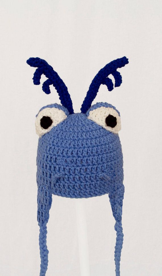 Blue Stuffy Dragon Earflap Hat in all sizes baby by JAVsDesigns ...