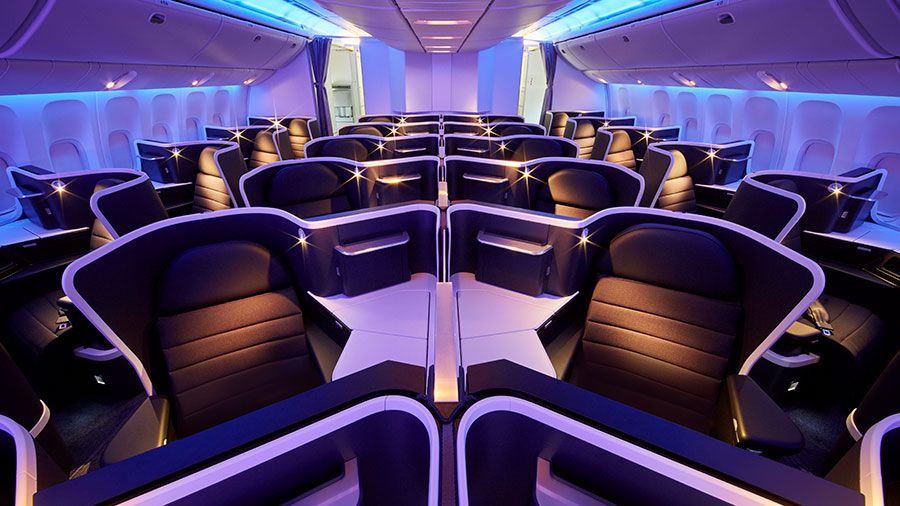 Airline review virgin australia 777300er business class
