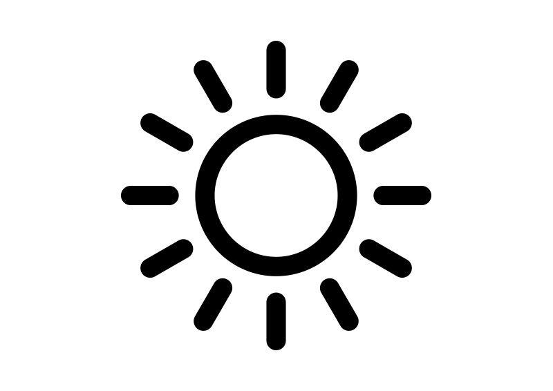 Black Simple Sun Icon Icon Tattoo Instagram Symbols Icon