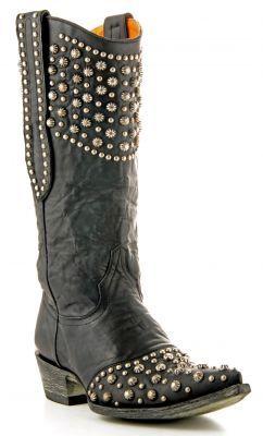 Womens Old Gringo Leigh Anne Boots Black L676 1 Via