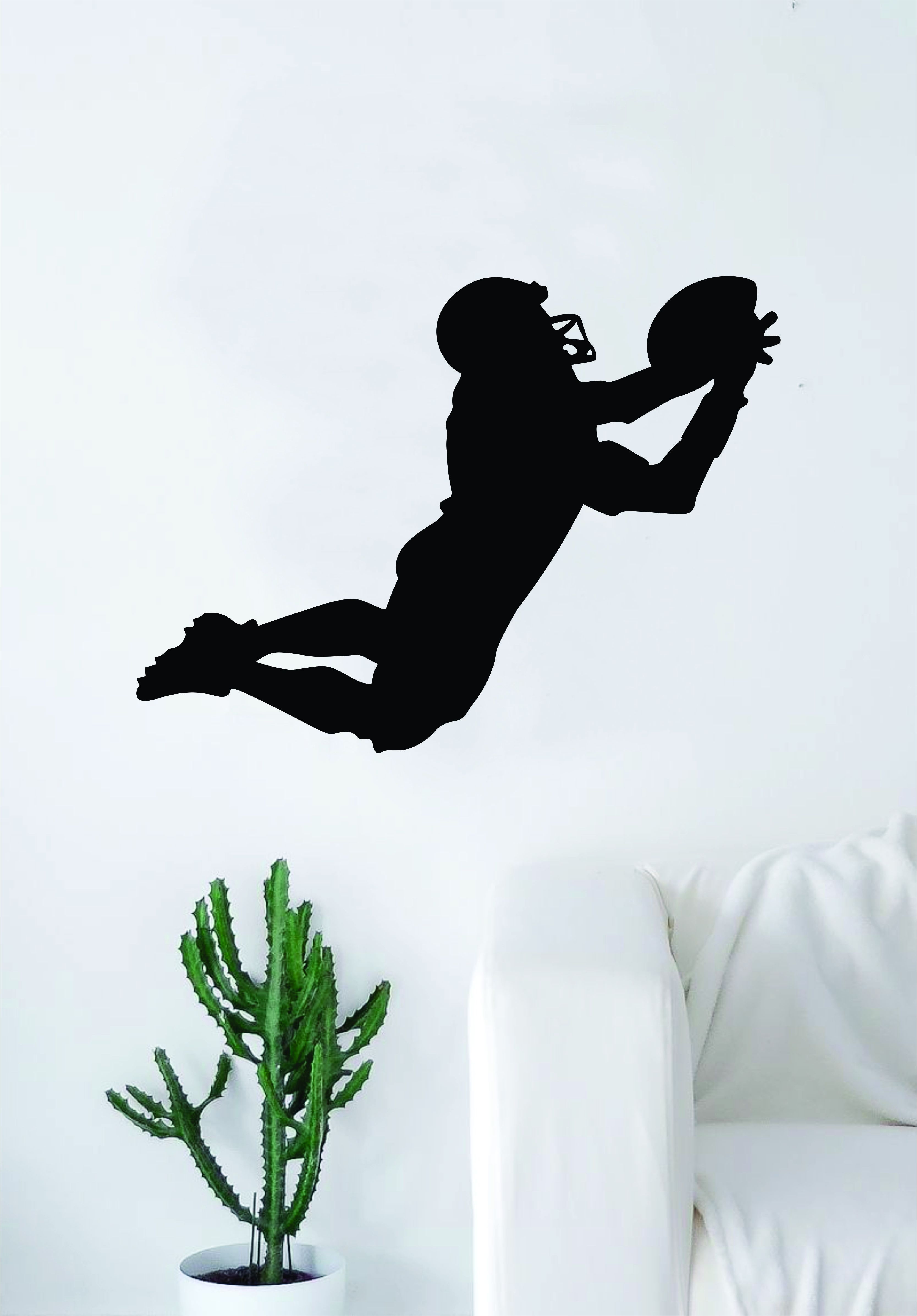 Football Player Silhouette Wall Decal Sticker Bedroom Living Room ...