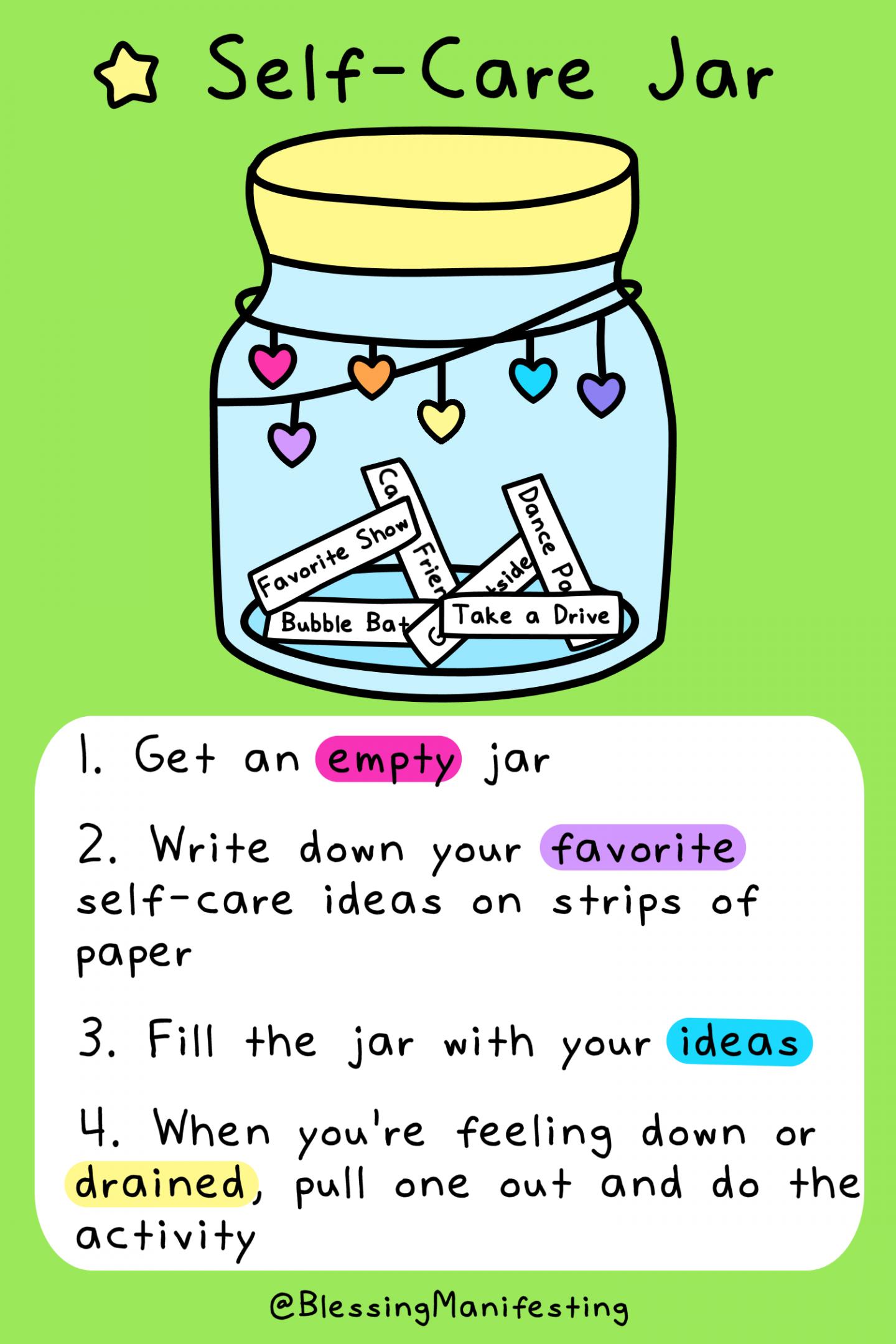 Self-Care Jar: Activity