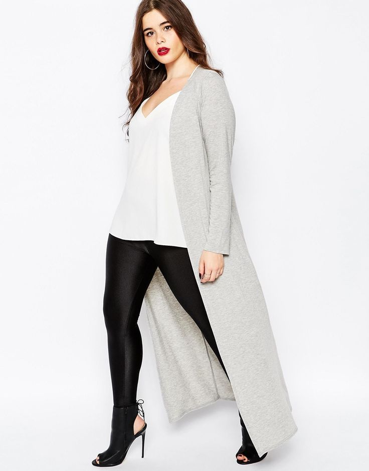 Plus Size Maxi Jersey Cardigan | Plus Size Fashion | Pinterest ...