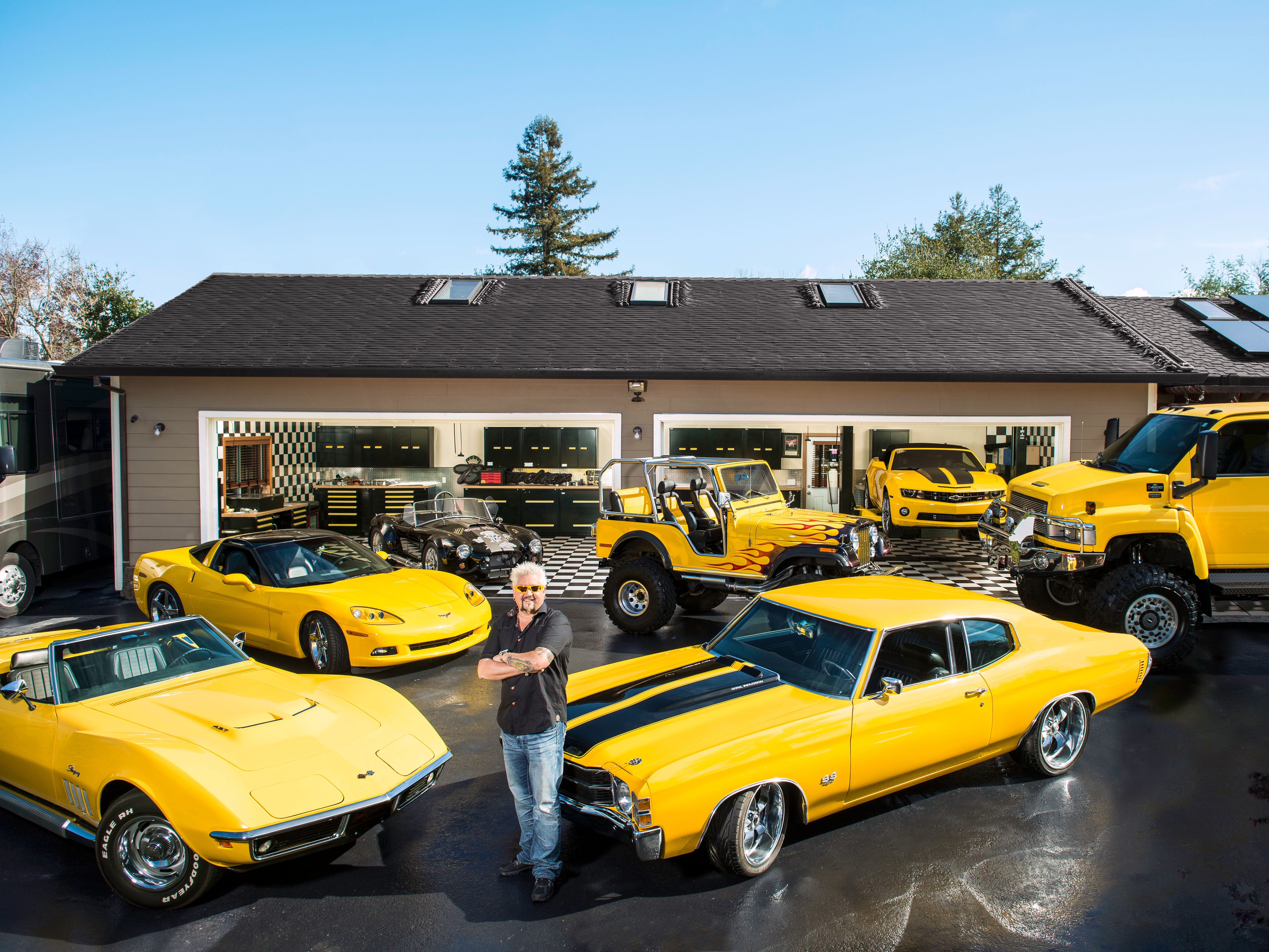 Fnmag Shows Us Guy Fieri S Car Collection Car Collection Car