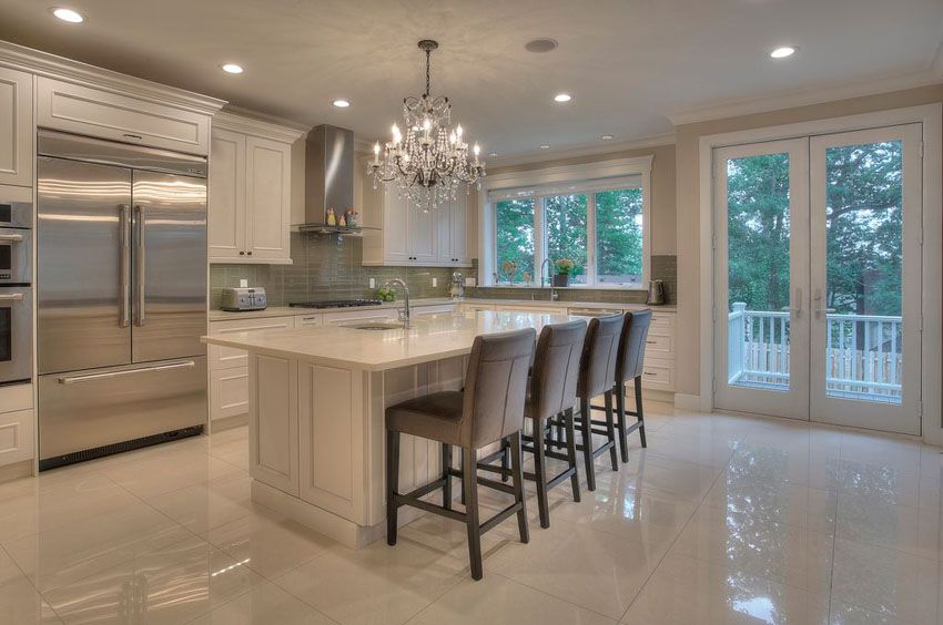 29 Beautiful Cream Kitchen Cabinets Design Ideas Luxury Kitchen Modern Marble Floor Kitchen Cream Kitchen Cabinets