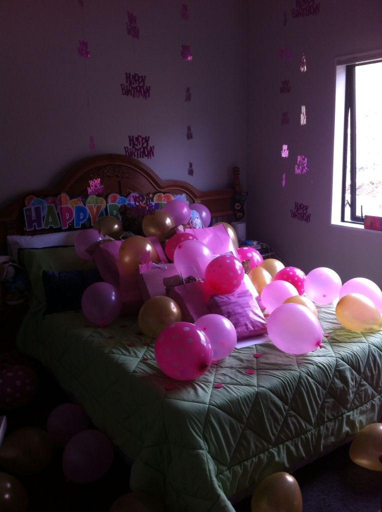 Pink 16th birthday surprise for a girl, sweet sixteen surprise pink and gold, polkadots