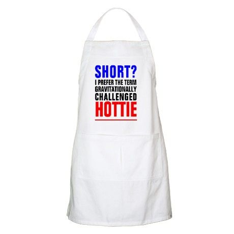 GRAVITIONALLY CHALLENGED FUNNY Apron on CafePress.com