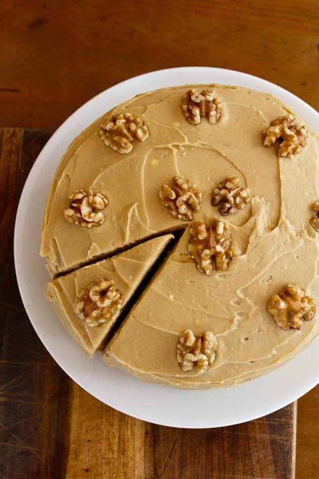 gâteau à la banane et glaçage au sirop d'érable !