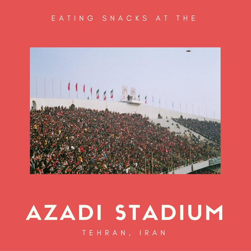 Eating Iranian Snacks At A Game In Tehran