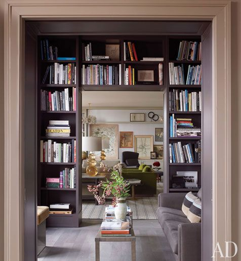 A Perfect Gray Bookshelves
