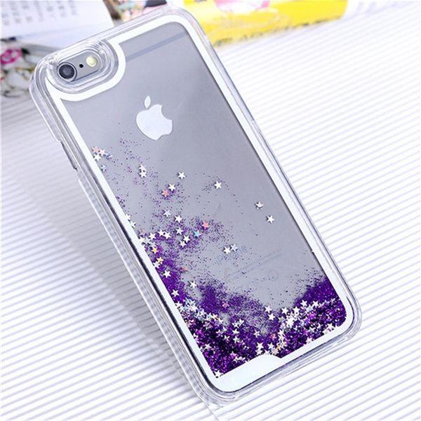 iphone 6 plus glitter case purple