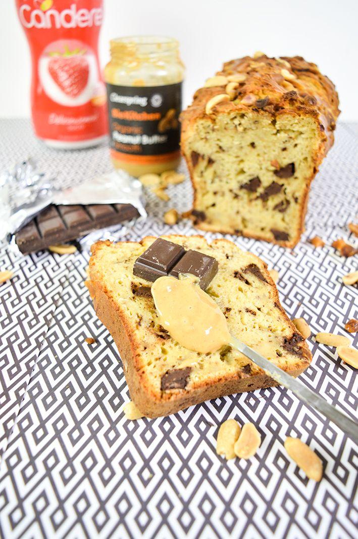 Cake healthy au beurre de cacahuète et chocolat (avec ...