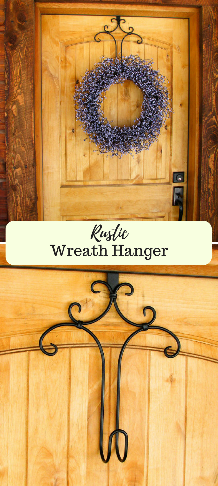 Very pretty! These Decorative Door Wreath Holders give your wreath ...