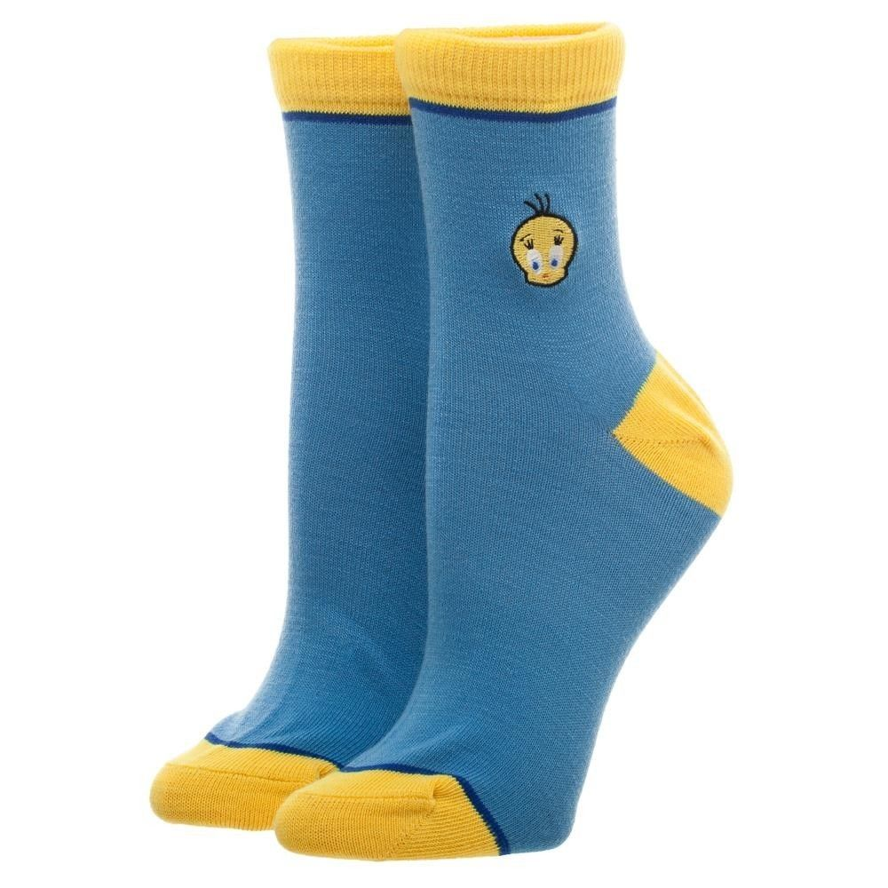 970b03f87114 Tweety Bird Looney Tunes Cartoon Bird Embroidered Junior Anklet Socks  #LooneyTunes #AnkleSocks