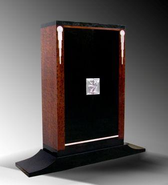 Meuble d\u0027appui Art Déco en bois laqué, côté plaquage acajou de cuba