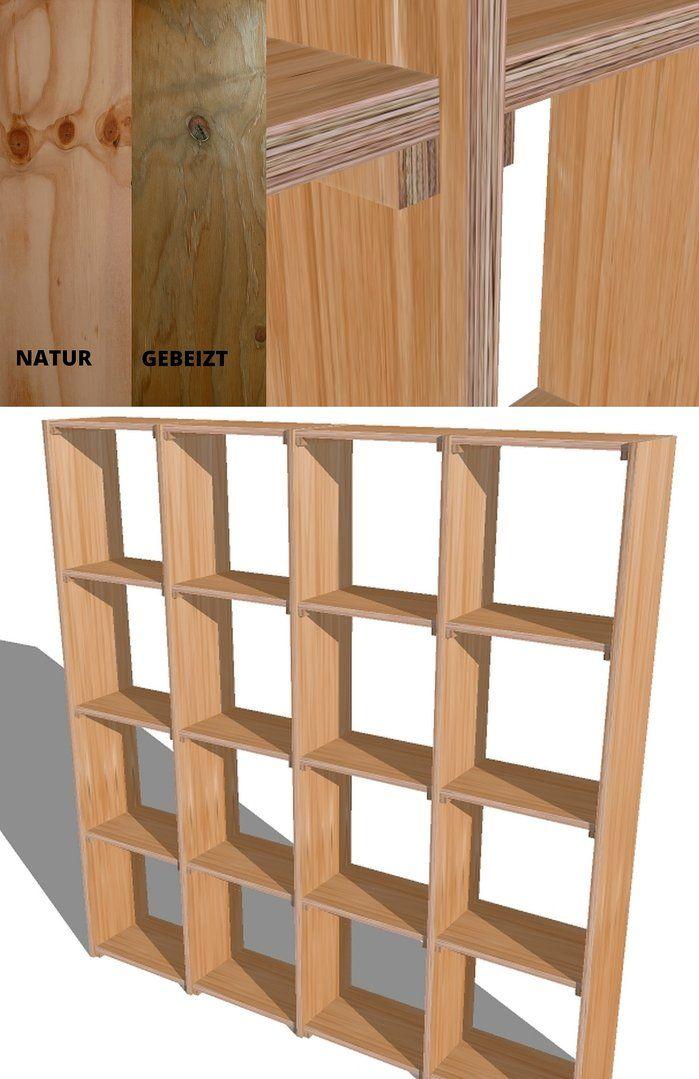 Spq Regal Multiplex Sperrholz Massiv Standregal Upcycling Wunschfarbe Bausperrholz Standregal Natur Oder Gebeizt Einfache Montage Sperrholz Regal Upcycling