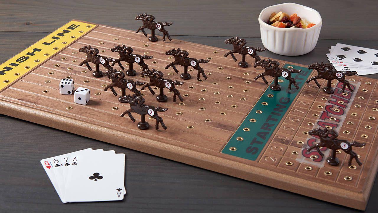 horse race card game youtube