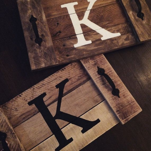 Rustic Wood Tray Wooden Pallet Por Taggedwithlove1