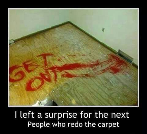 Missed a trick here when putting new carpet in bedroom ;-)