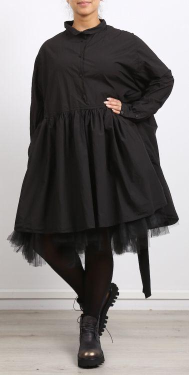 rundholz dip - Kleid mit Bluse oder Tunika 2in1 Stretch black
