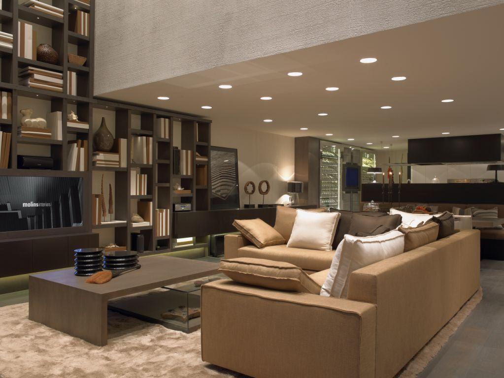 Iluminaci n de salas decoracion home decor room y small living rooms - Disenos de salones modernos ...