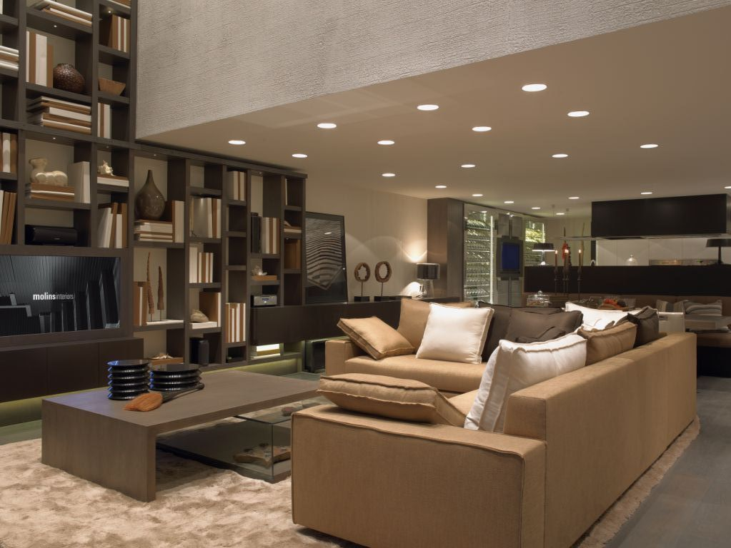 Diseo de salones latest awesome estupendo diseo salon - Iluminacion salones modernos ...