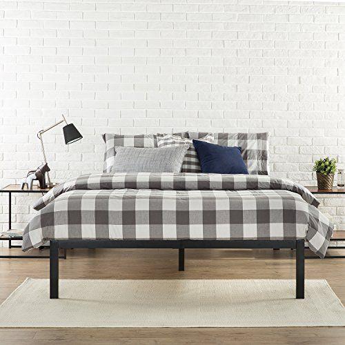 Zinus Modern Studio 14 Inch Platform 1500 Metal Bed Frame / Mattress ...