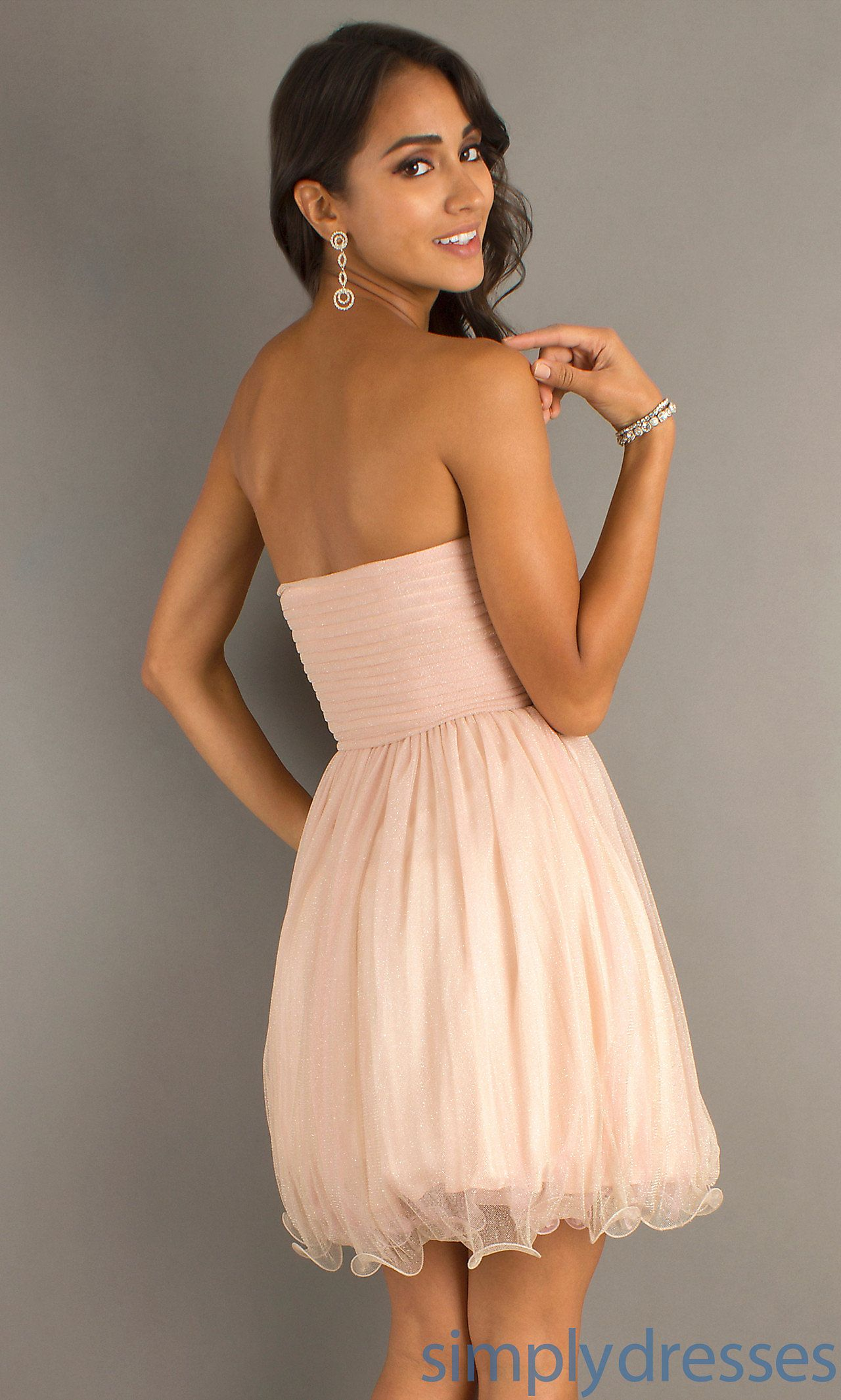 Short strapless prom dresses pink short dresses simply dresses