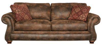 broyhill laramie microfiber sofa with nailhead 0ZQ23I7R