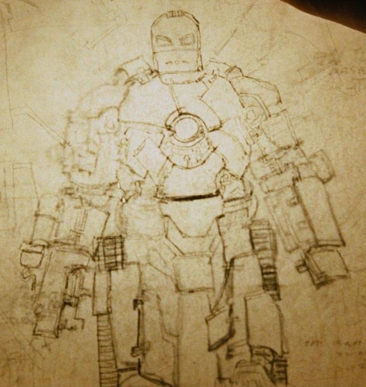 Iron man suit blueprints iron man armor mk i earth for Plan d iron man