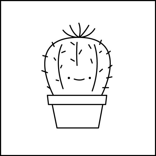 Image Result For Free Black And White Cactus Images