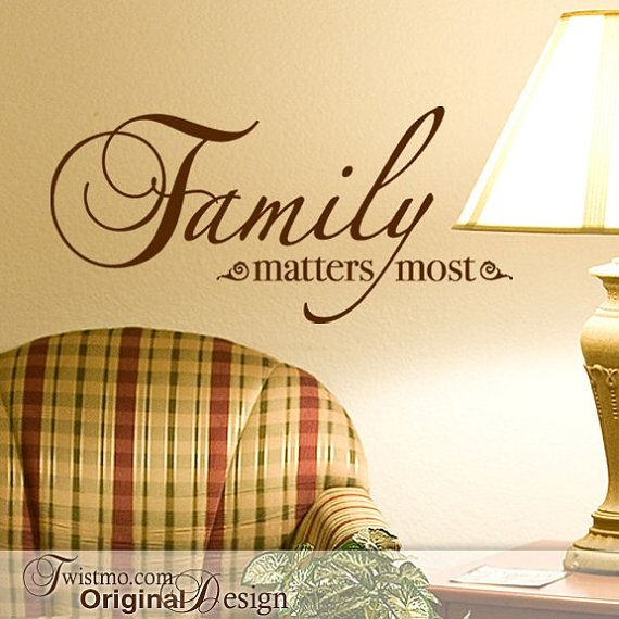 Family Wall Decal, Vinyl Wall Words Decal, Family Matters Most Inspirational  Saying, Vinyl Quote (001612b0v)