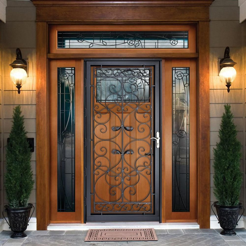 Grisham Naples 36 in. x 80 in. Black Full View Wrought ...