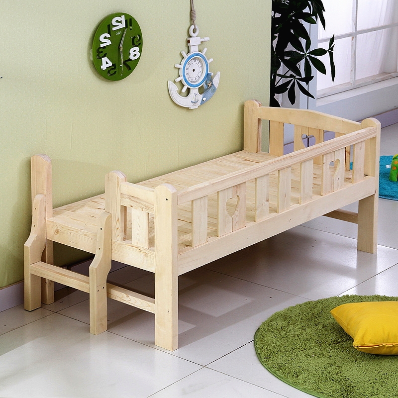 445 73 Watch Here Http Ali8y7 Worldwells Pw Go Php T 32777360178 Solid Wood High Quality Children Bed Lengthen Widen Combine Bi Kid Beds Baby Cribs Bed