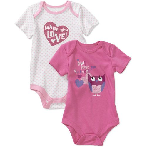 Newborn Girls' 2 Pack Valentine Graphic | Clothes for girls ...