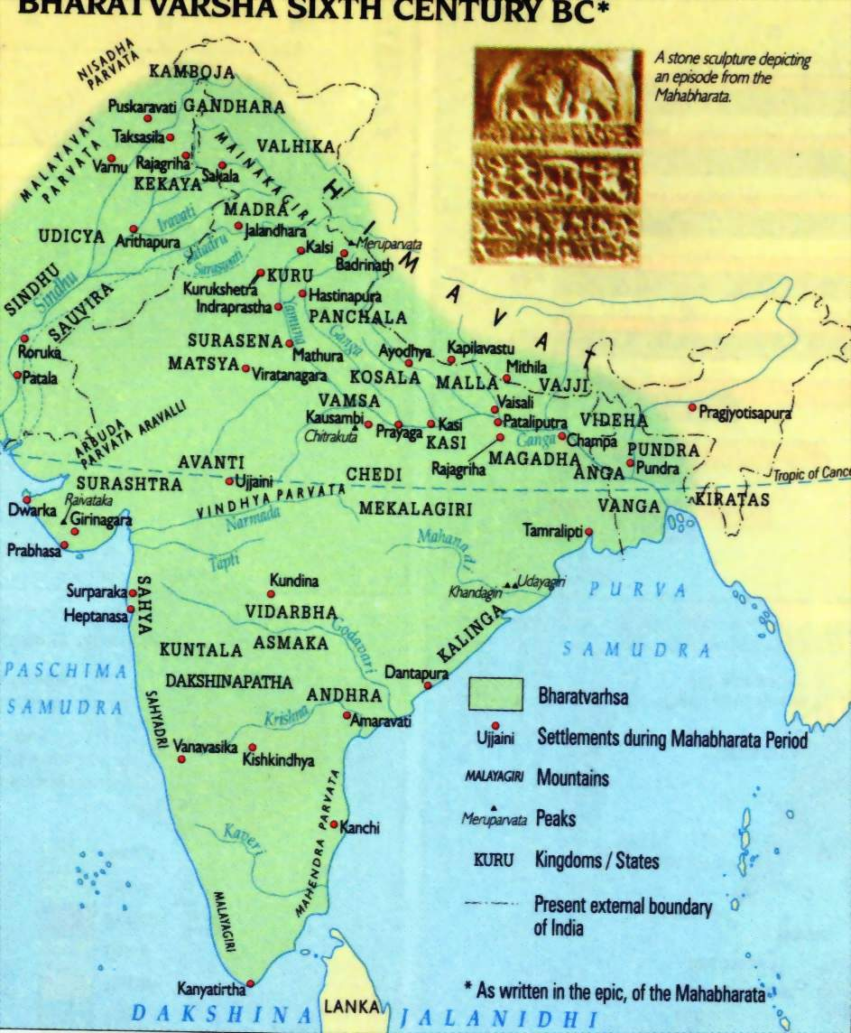 The Map Of India 6thcentury Before It Became India Known As Bharatvarsh After King Bharat Ancient India Map History Of India Ancient India