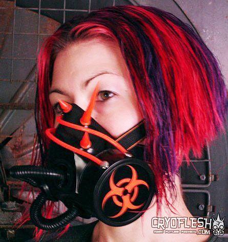 bio threat cyber gas mask halloween shoeshalloween ideascybergothgas