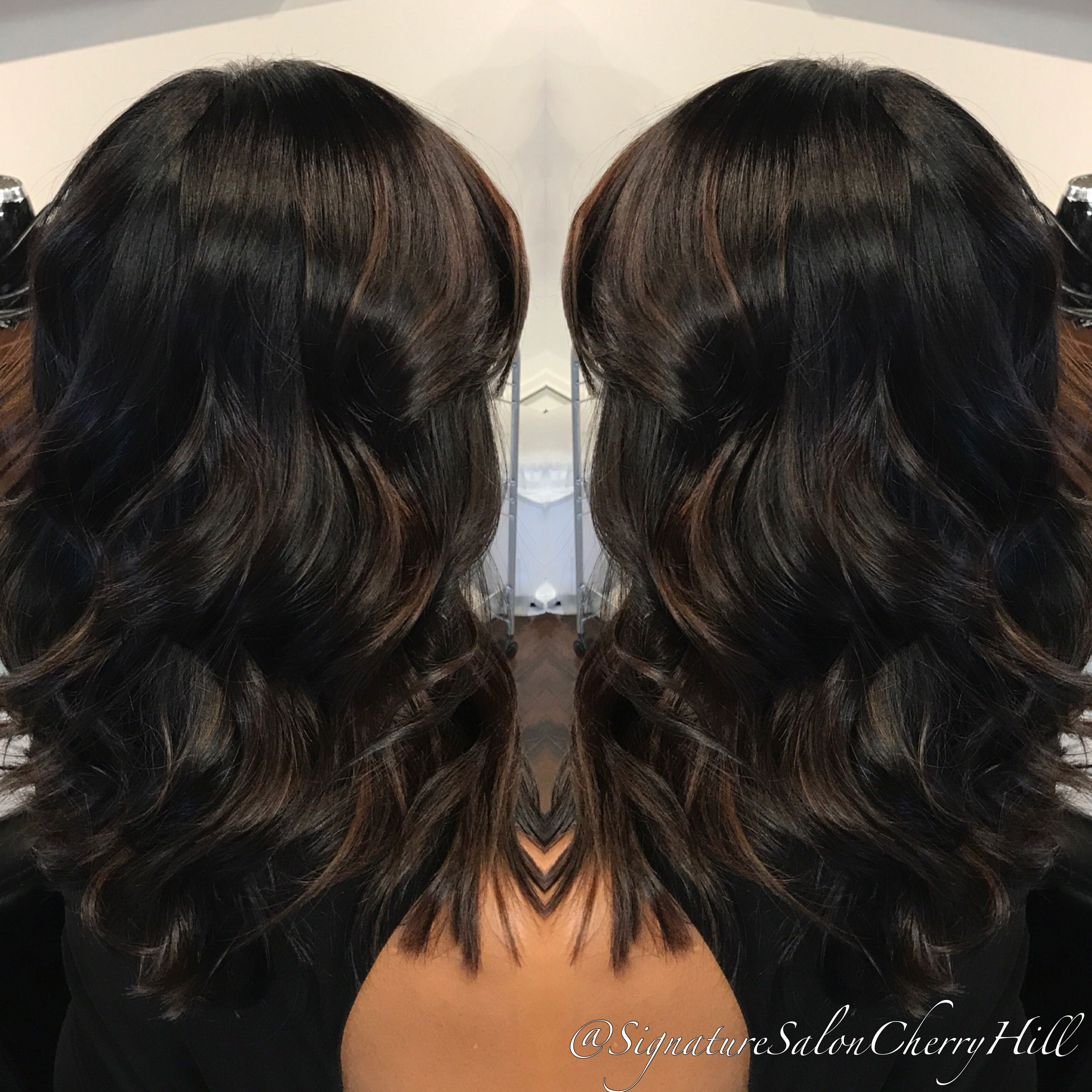 Deep Espresso Color With Subtle Chocolate Balayage By Janyra With