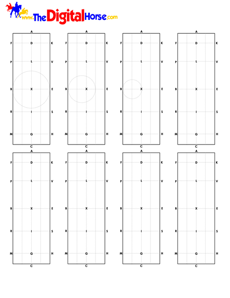 Print out this sheet to diagram your dressage test ...