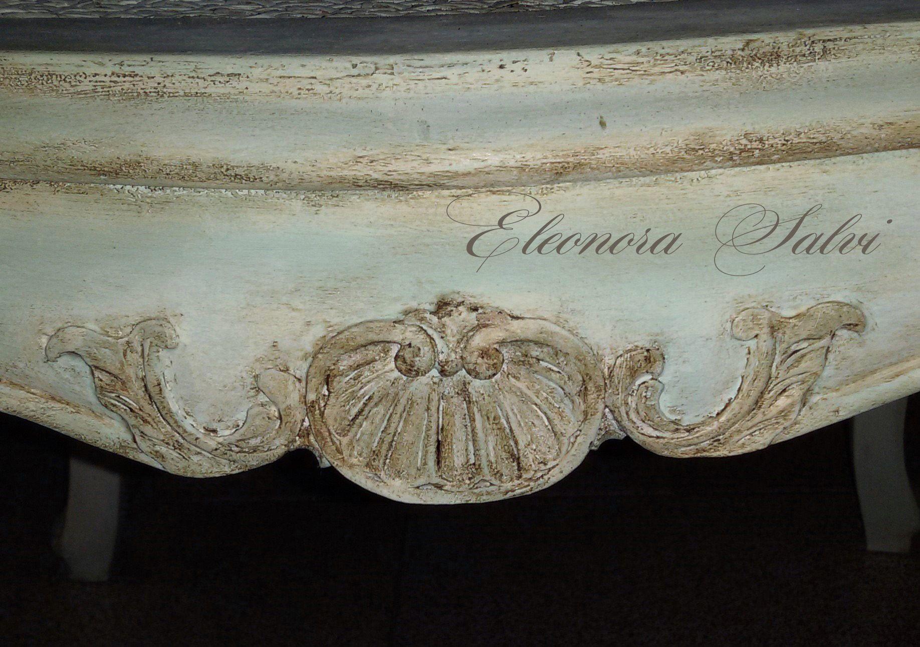 Sedie Shabby Chic Vendita : Sedia in legno bianco invecchiato arredo shabby chic classico