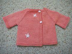 Ravelry: Paxton (Preemie and Newborn Jacket) pattern by StitchyMama