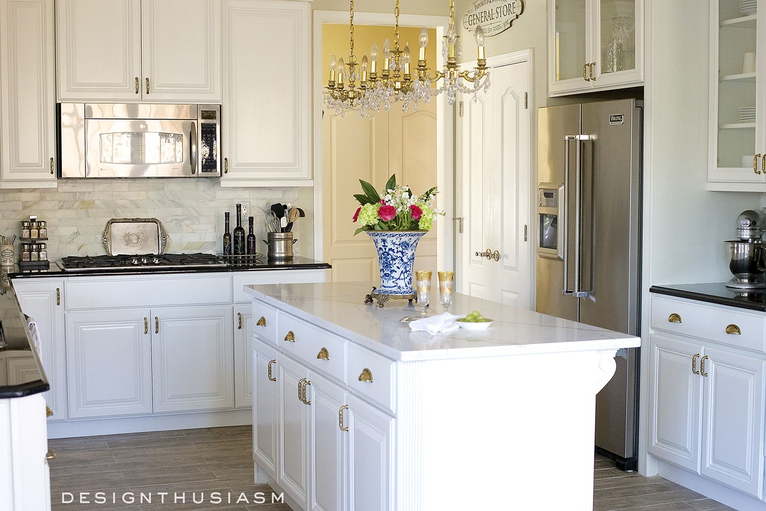New Kitchen Dramatic Kitchen Renovation Without Removing Cabinets Kitchen Remodel Small Kitchen Renovation Kitchen Renovation Inspiration