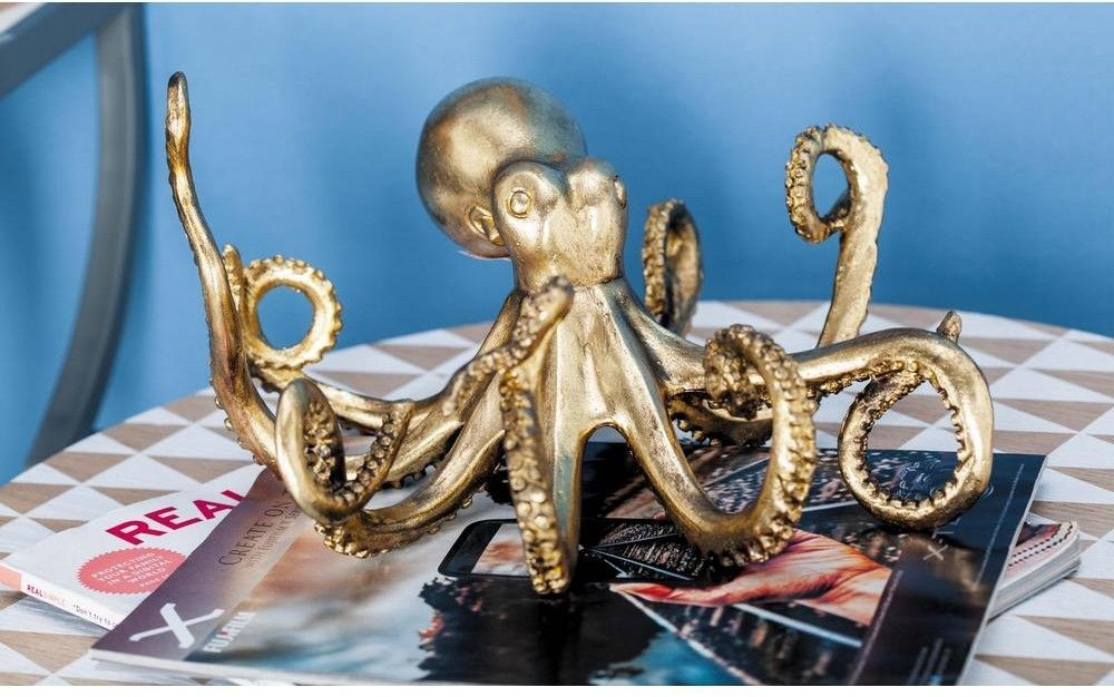 6 Inch Decorative Octopus Sculpture Gold Finished Polystone Accents Decor Home Unbranded Octopus Decor Octopus Decorative Sculpture