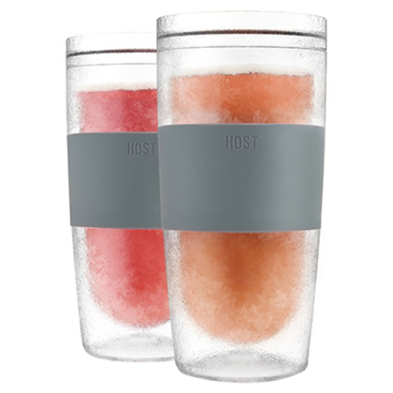 Host Wine Freeze Cooling Cups Gray Set Of 2 Best Offer Wine