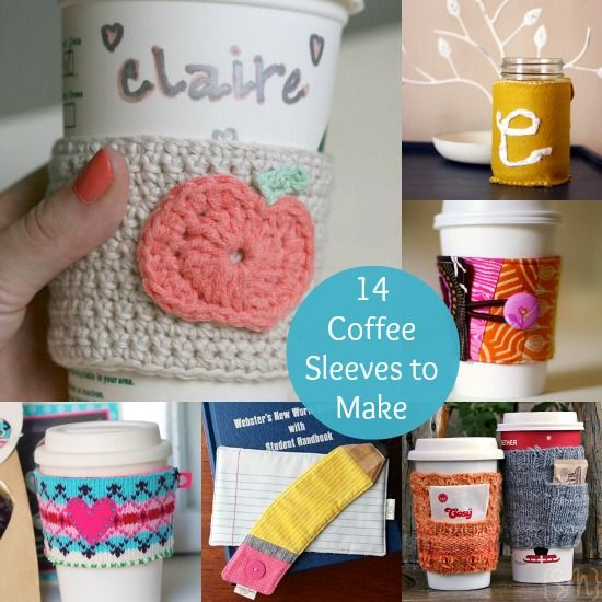 14 Ways to Make a DIY Coffee Sleeve | Tejido, Regalitos y Crochet ...