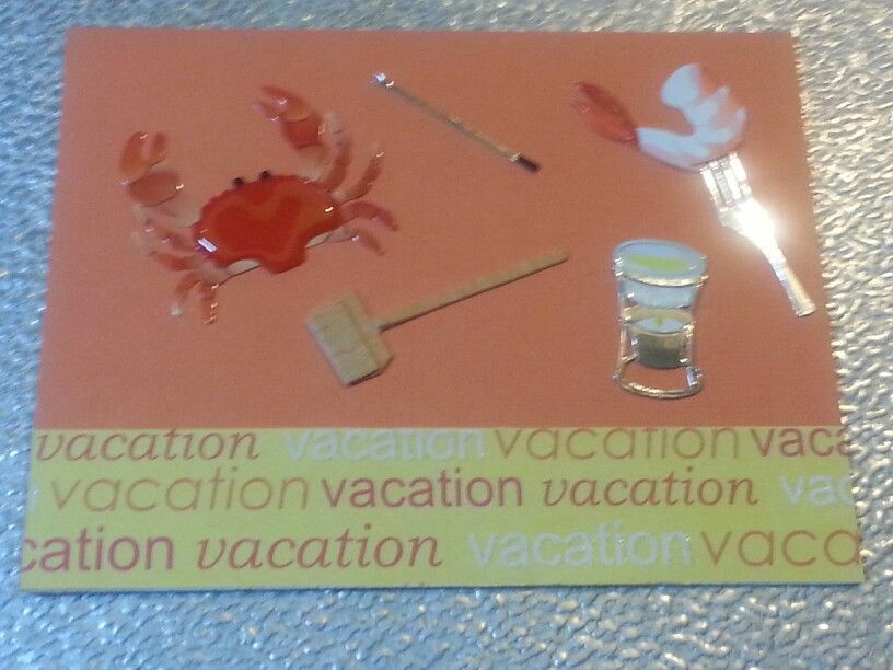 Vacation card homemade seafood by Diana