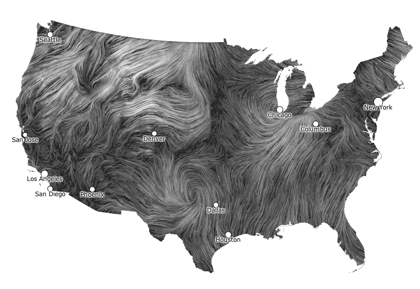Mesmerizing Wind Map Is The Coolest Looking Weather Map Ever Wind Map Interactive Infographic Map