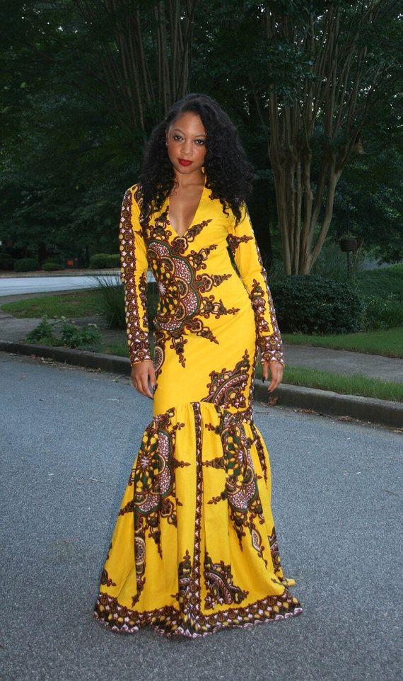 Melange Mode Sunshine Mermaid Dress African Attire African Fashion Africa Fashion
