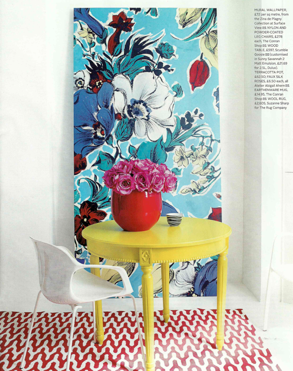 Red Magazine July 2011 Life In Colour Decor Color Of Life Yellow Table