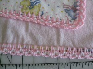 Flannel Baby Blankets Crochet Blanket Border Crochet